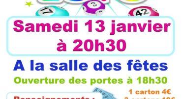 LOTO SAMEDI 13 JANVIER 20H30