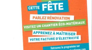 FETE DE L'ENERGIE DU 4 AU 27 OCTOBRE 2019