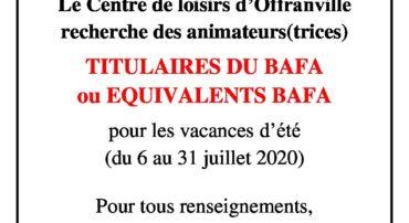 JOB 2020: Centre de loisirs d'Offranville