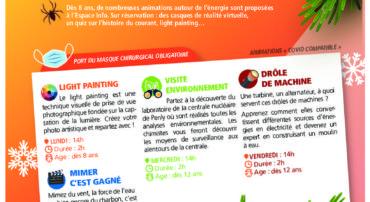 PROGRAMME D'ANIMATIONS ELECTRIQUES CENTRALE DE PENLY