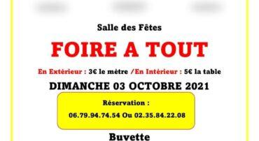 FOIRE A TOUT DIMANCHE 3 OCTOBRE 2021